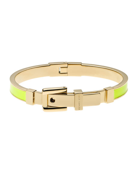 Buckle Enamel Bracelet, Yellow