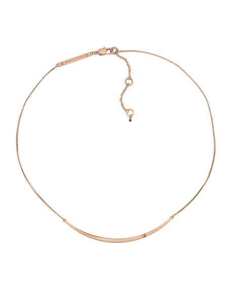 Bar Necklace, Rose Golden