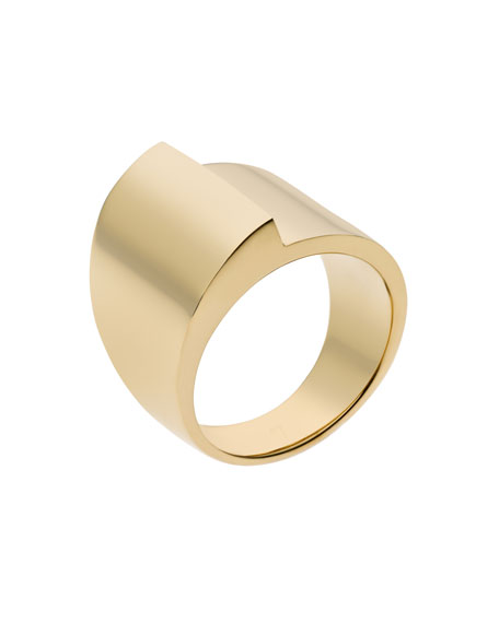 Fold-Over Ring, Golden