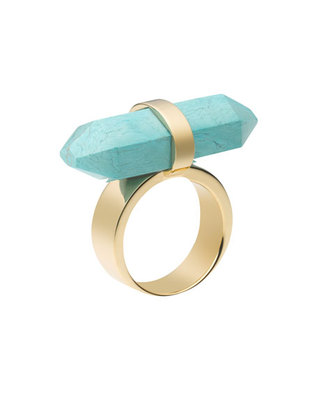 Rock Crystal Ring, Turquoise
