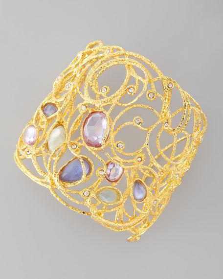 Mauritius Golden Lace Cuff Bracelet