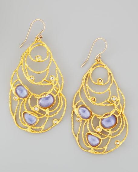 Mauritius Golden Lace Drop Earrings