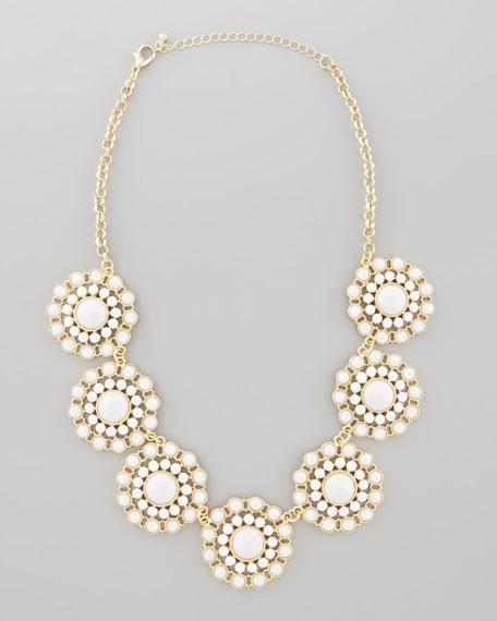 Epoxy Flower Necklace, White