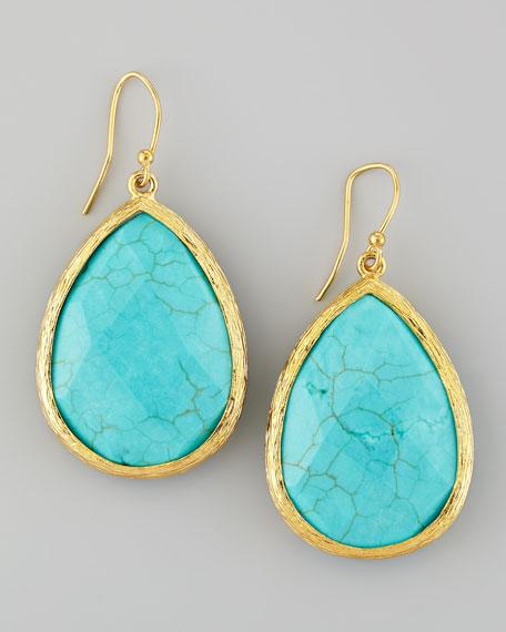 Turquoise Teardrop Drop Earrings