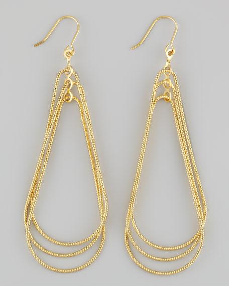 Diamond-Cut Tiered Drop Earrings
