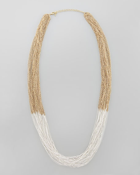 Two-Tone Multi-Chain Necklace