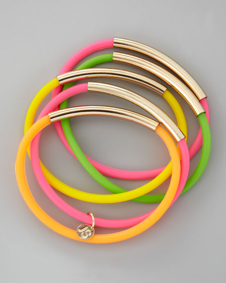 Set of 5 Neon Wrapped Up Tube Jellies