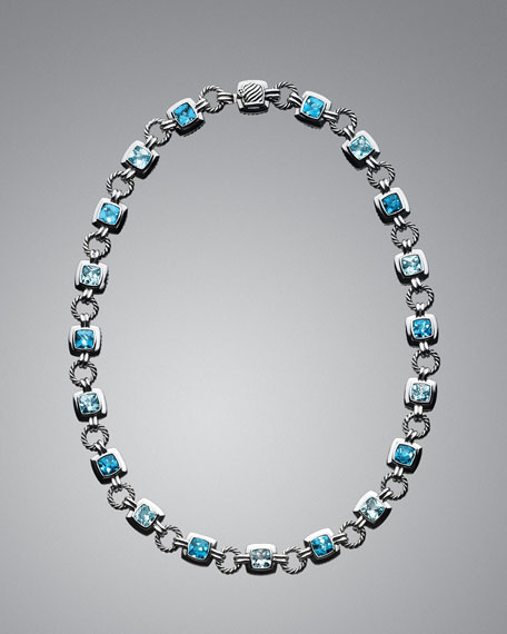 Blue Topaz Renaissance Necklace