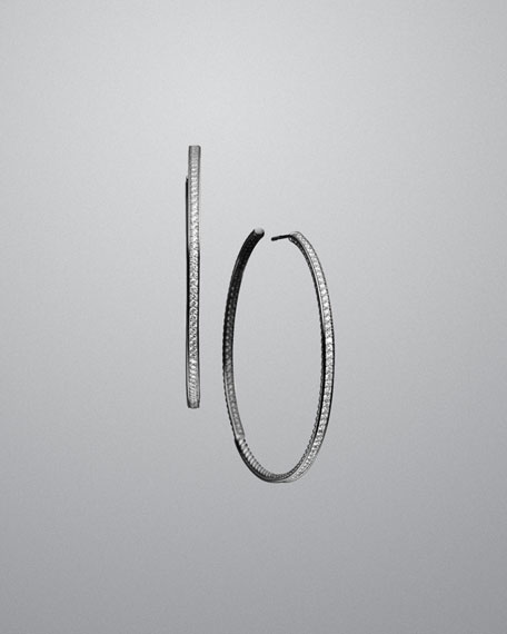 Cable Classics Medium Hoop Earrings with Diamonds