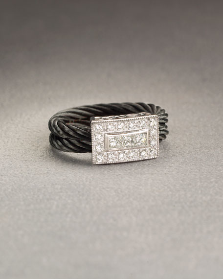 Diamond Cable Ring