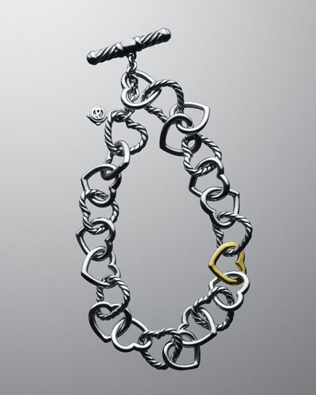 Cable Heart Link Bracelet