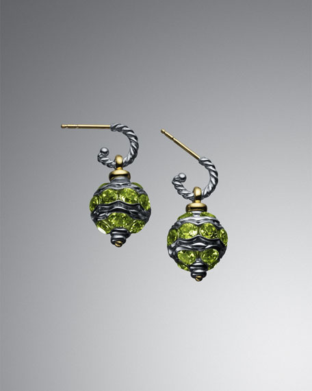 Peridot Jewel Bead Earrings
