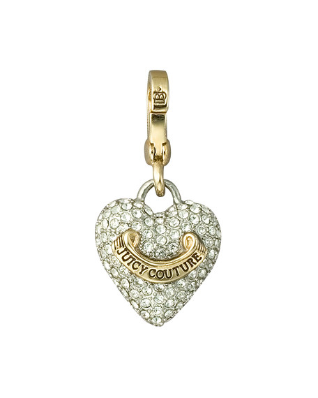 Pave Puffed Heart Charm