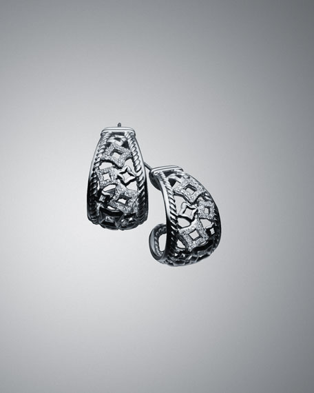 Quatrefoil Earrings with Diamonds