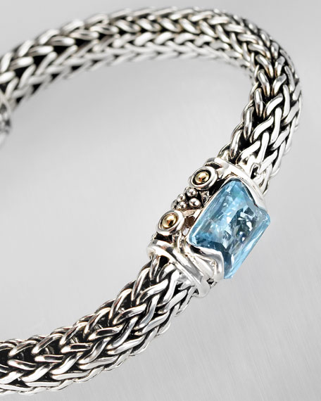 Jeweled Rope Bracelet, Blue Topaz