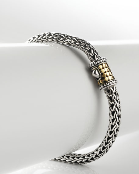 Armadillo Sterling & Gold Bracelet