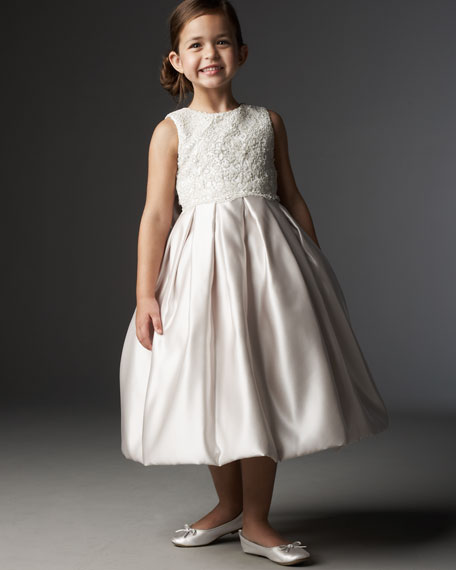 Satin and Lace Tea Dress, Sizes 2-6X