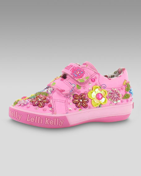 Double-Strap Floral Sneaker