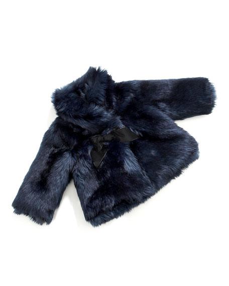 Faux-Fur Bow-Detail Jacket