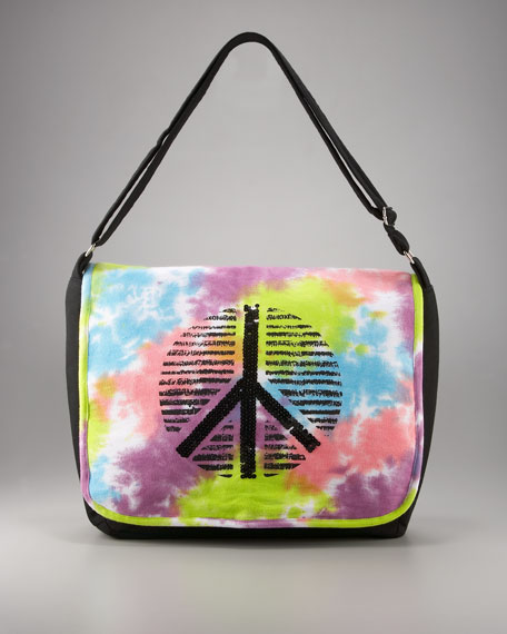 Tie-Dye Messenger Bag