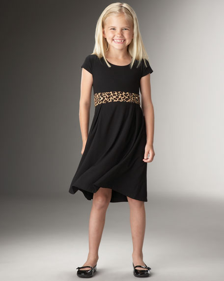 Animal Black Dress