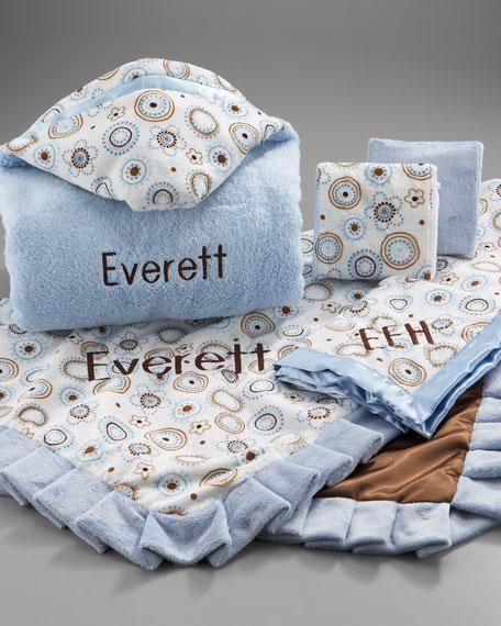 Set of Two Baby Henna Burping Cloths, Plain