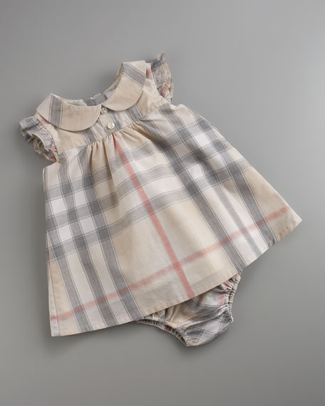 Faded-Check Dress & Bloomers