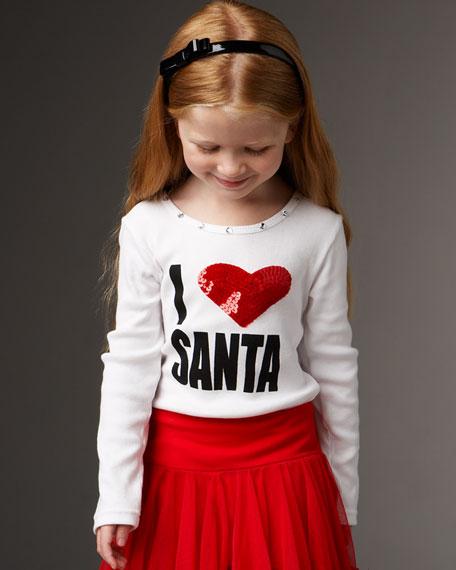 I Heart Santa Tee, Sizes 2-6X