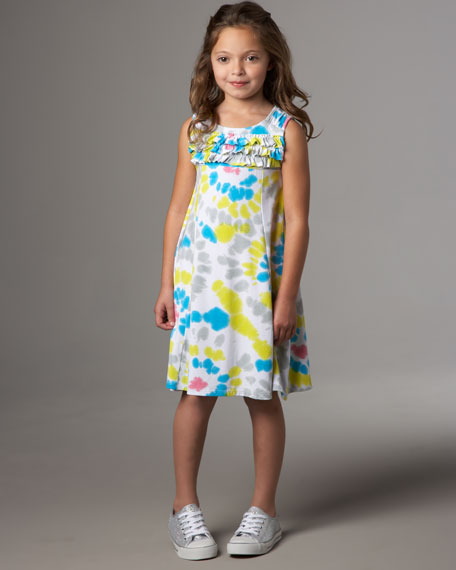 Flowers by Zoe Graffiti Tie-Dye Dress, Sizes S-XL