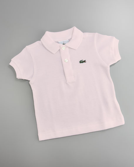 Classic Pique-Knit Polo, Flamingo