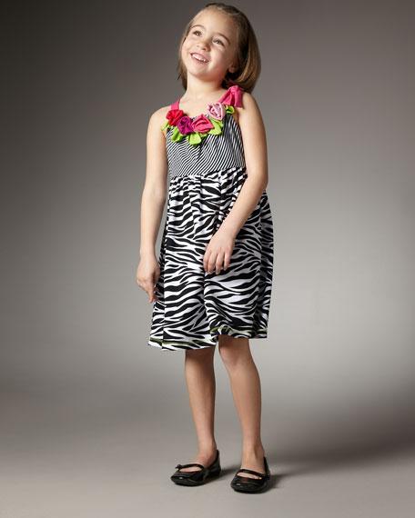 Zebra-Print Dress