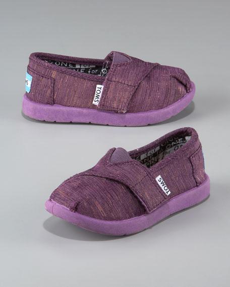 Children's Tiny Sparkle Slip-On Shoe, Purple