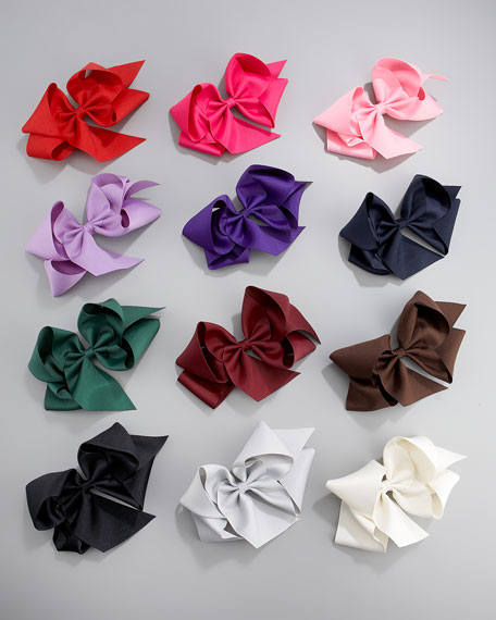 Giant Hair-Bow Set, Dark Colors