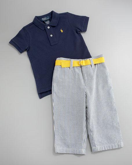 Polo & Seersucker Pants Set