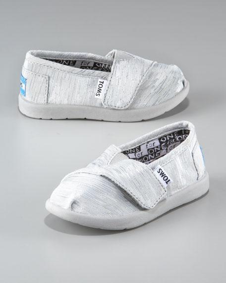 Children's Tiny Sparkle Slip-On Shoe, Silver