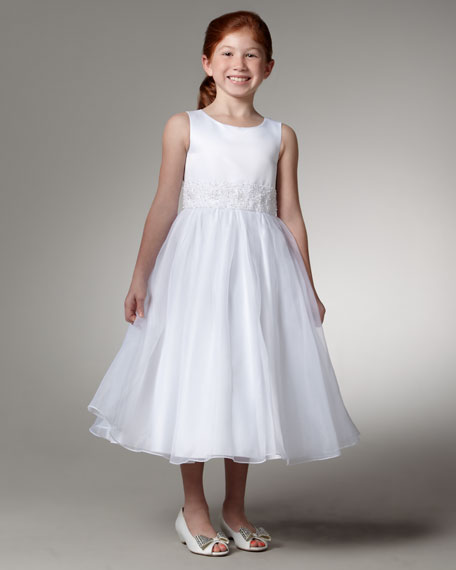 Beaded Waist Dress, Sizes 7-14