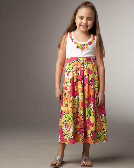 Floral-Print Dress, Sizes S-L