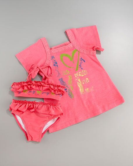 Love Cover-Up & Swimsuit Set