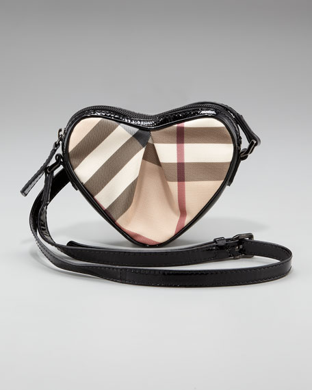 Check Heart Crossbody Bag