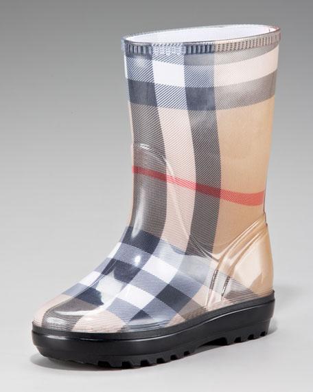 Check Rain Boots, Youth