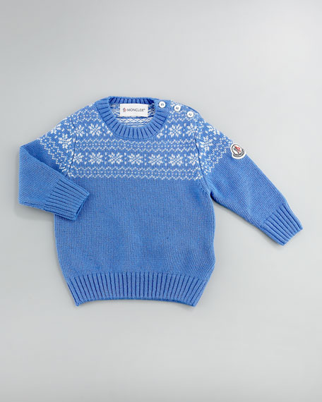 Snowflake Sweater, Blue