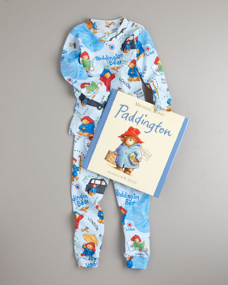 Paddington Bear Pajama and Book Set, Sizes 2T-3T