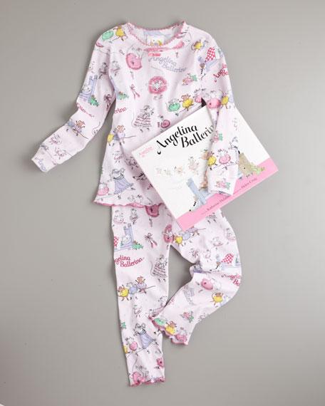 Angelina Ballerina Pajama and Book Set, Sizes 8-10