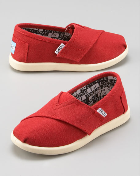 Red Classic Canvas Shoe, Tiny