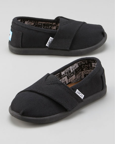 Black Classic Canvas Shoe, Tiny