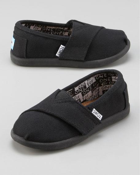 Black Classic Canvas Shoe, Tiny