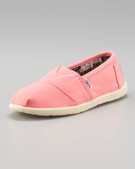 Bright Pink Classic Canvas Shoe, Youth