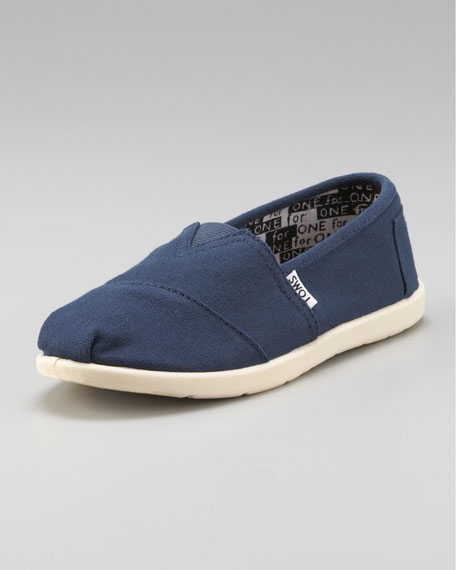 Navy Classic Canvas Shoe, Youth