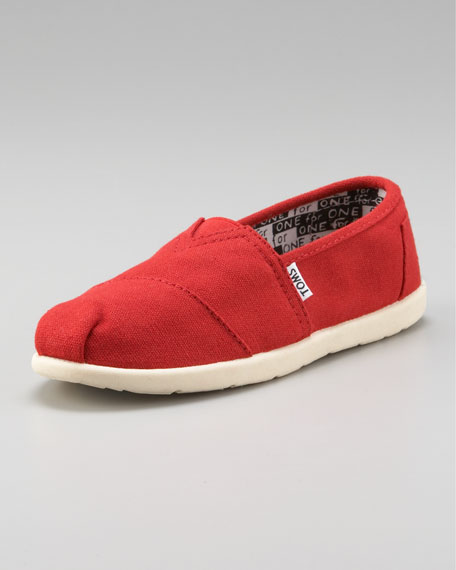 Red Classic Canvas Shoe, Youth