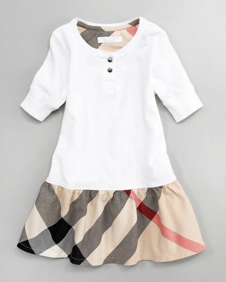 Jersey Henley Dress, Sizes 2-6